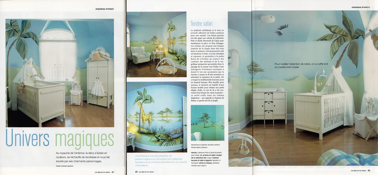 Murales catsa chambres et commerces montr al laval rive sud et les environs for Idees de ma maison